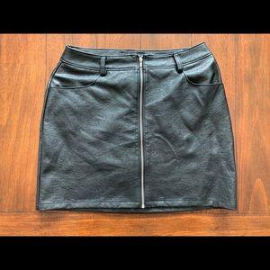 Akira Vegan Leather Mini Skirt